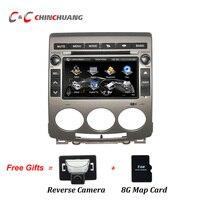 Gratis Reverse Camera + 8G Kaart Card! Autoradio Dvd-speler voor Mazda 5 2005-2010 Head Unit GPS Navigatie Spiegel Link USB SD BT!!