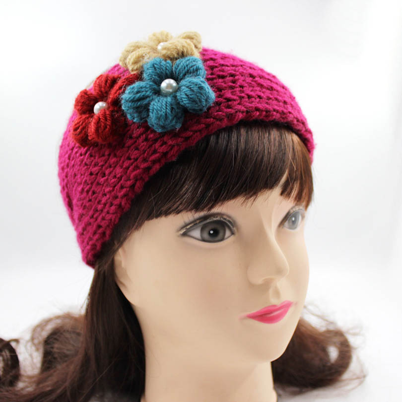 Aliexpress Buy Women Knitted Flower Hairband Headwrap Crochet