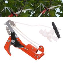 High-altitude Extension Lopper Branch Scissors Extendable Fruit Tree Pruning Saw Cutter Garden Trimmer Tool 4 5m telescopic pole pruner saw pruning cutter steel garden shear extendable