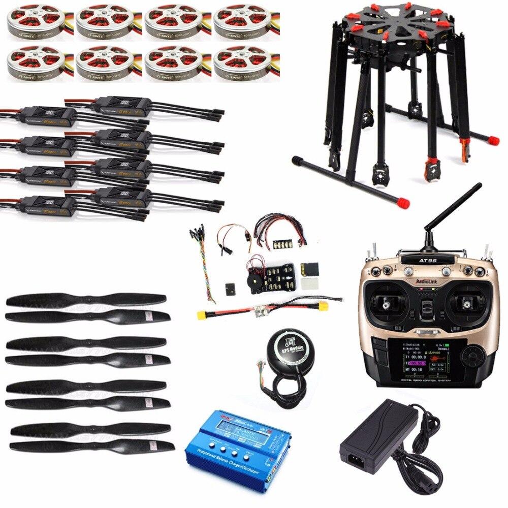 DIY GPS Drone Tarot X8 TL8X000 8-Axe Cadre Pliant 350KV 40A PX4 32 Bits Contrôleur de Vol Radiolink AT9S émetteur F11270-D