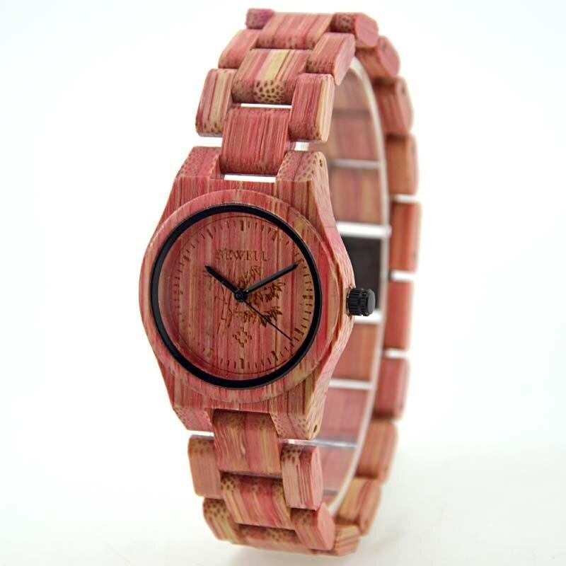 все цены на BEWELL Watch Women Bamboo Wood Watches Top Luxury Brand Wooden Ladies Quartz WristWatch Leisure Watches Women With Paper Box