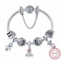 Аутентичные 925 пробы серебряные шарики браслет подходят оригинальный Модные украшения совершенной жизни Семья Маленький мальчик девушки
