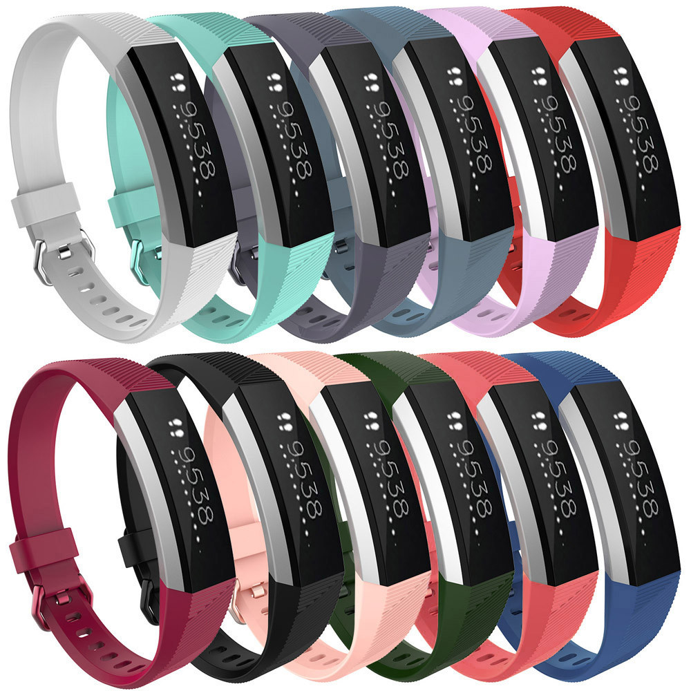 Watch Band Silicon Strap Clasp Bracelet Wristband Adjustable Replacement For Fitbit Alta HR 160-210MM BTTF