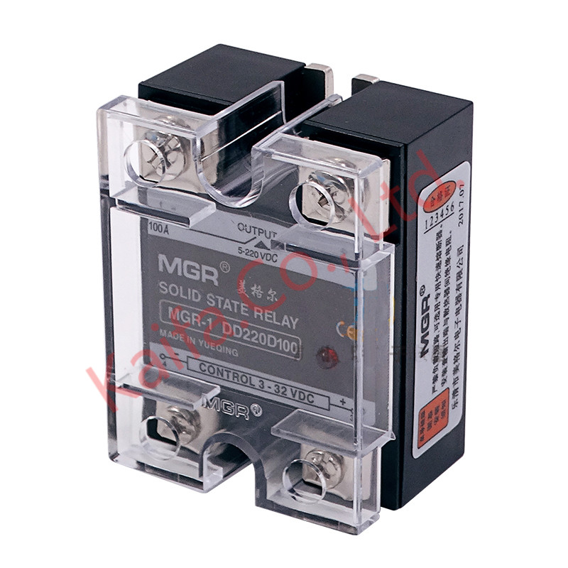 Mager SSR-100A DC-DC MGR-1DD220D100 Single Phase Solid State Relay input 3-32VDC output 5-220VDC Control current 5-25mADC ssr mgr 1 d4860 meike er normally open type single phase solid state relay 60a dc ac