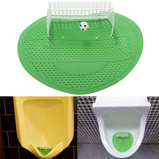 Lovely Toilet Football Soccer Shooting Mat Soccer Shooting Target Style Urinal  Screens Mat Toilet Bathroom Accessories MS451