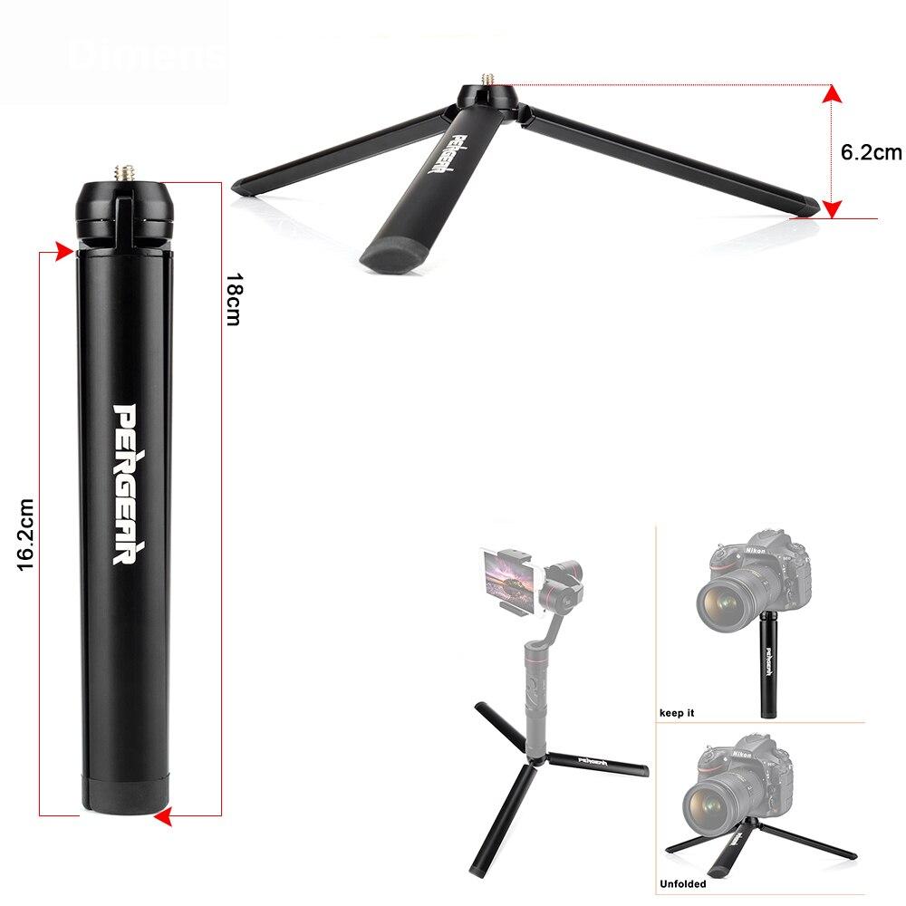 Pergear Mini Tabela de Alumínio Perna do Tripé para Zhiyun Lisa Q Guindaste Cabeça do Tripé Selfie Vara Extensível Monopé Smartphones Câmeras