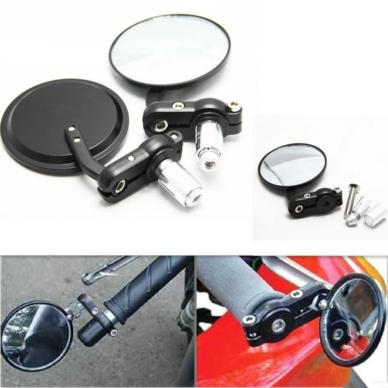 LOWRIDER RECTANGLE BICYCLE MIRRORS CHROME WITH RED REFLECTORS SET OF 2