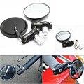 "2 pieces Motorcycle Mirror moto bike Black Round Billet Bar End Mirrors 7/8"" Rearview Mirror Rear-View Mirrors"