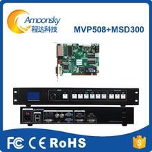 Processador De Vídeo LEVOU controlador com 1 nova MSD300 enviar cartão como p3.5 ks600 para tela led de publicidade ao ar livre