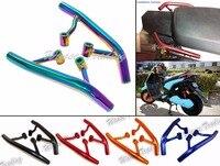 Motorcycle Tail Rear Seat Pillion Passenger Grab Rail Bar Handle Rack Bracket Black For 2009 2015