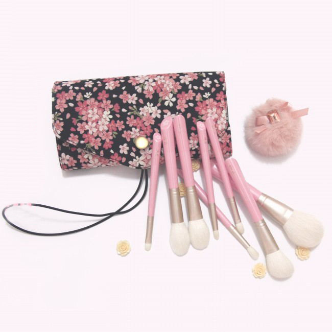 Professional Makeup Brushes Set 8pcs Soft Goat Hair Make up Face Powder Blush Eye Shadow Brush Pink Handle Cosmetic Tools пудра makeup revolution pressed powder porcelain soft pink цвет porcelain soft pink variant hex name ddc599