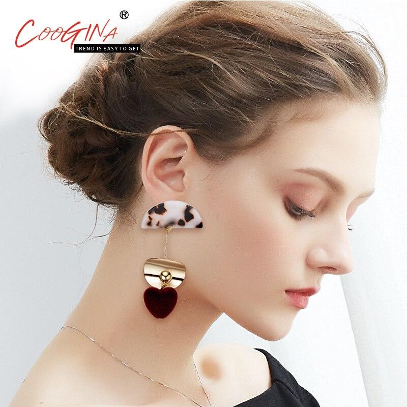 2018 Coogina высокое качество взрывы женская Европейская ухо сердце-образный уха ногтей женский серебряный иглы покрытие процесс уха ювелирных ...