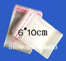 10000pcs 6*10cm Resealable Small Size Clear Self Adhesive Packaging Bags Plastic poly Opp Candy Cookie Jewelry Packing bag
