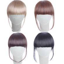 Симпатичная заколка для девочек на заколках, накладные волосы короткая челка наращивание волос кусок AP10