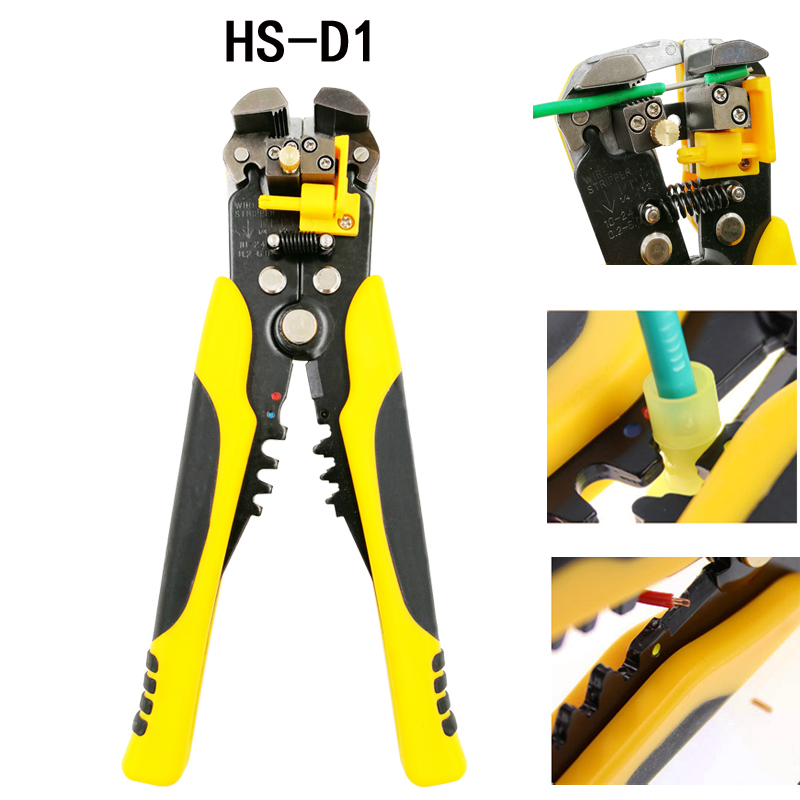 3 in 1 Multi tool Automatic Adjustable Crimping Tool Cable Wire Stripper Cutter Peeling Pliers D1 repair tools diagnostic-tool newacalox multifunction self adjustable terminal tool kit wire stripper crimping pliers wire crimp screwdriver with tool bag