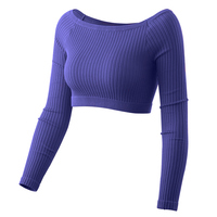 Cheap Knitting Keep Warm Dancing Sweater Ladies Ballet Dance Tops Sexy Stage Performance Slim Gymnastic Clothing Dancing Wear