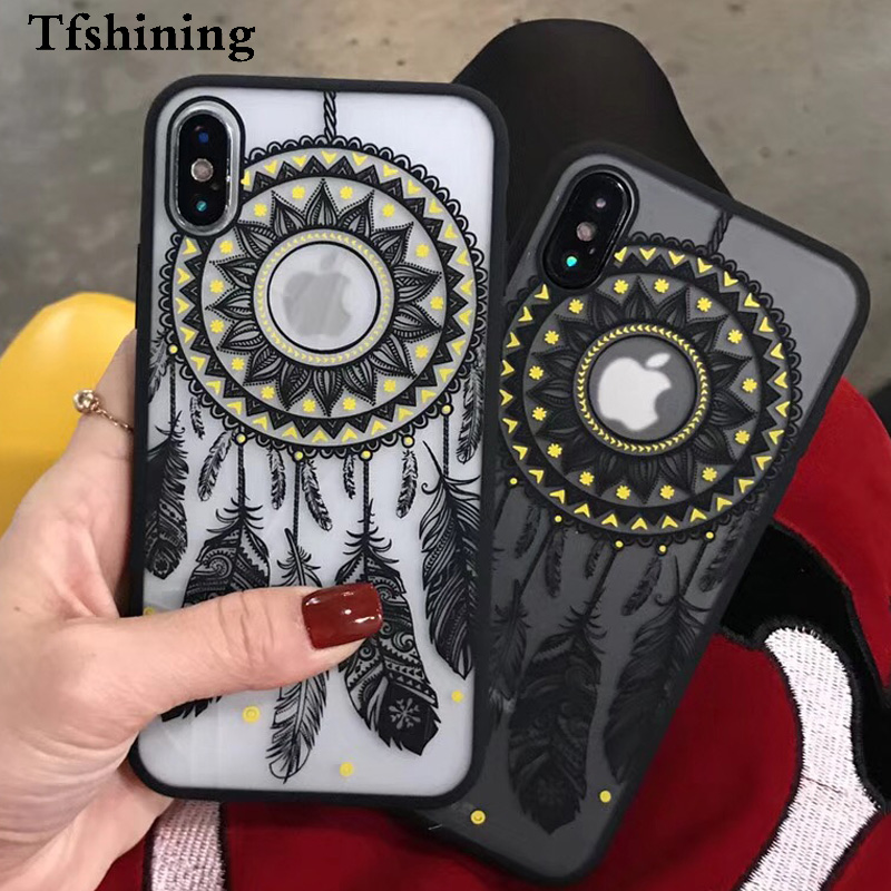 Чехол для телефона Tfshining Mandala Palace Flower для iphone 11 Pro Max XS Max XR X 6 6S 7 8 Plus X SE 2020 матовый чехол image