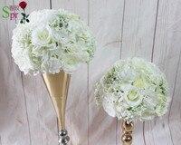 SPR alta calidad 10 unids/lote tabla central de la boda bola de la flor artificial flor de la decoración de la boda telón de fondo flor de pared