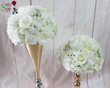 SPR high quality 10pcs/lot wedding table centerpiece flower ball  artificial flower wedding  decoration backdrop flower wall