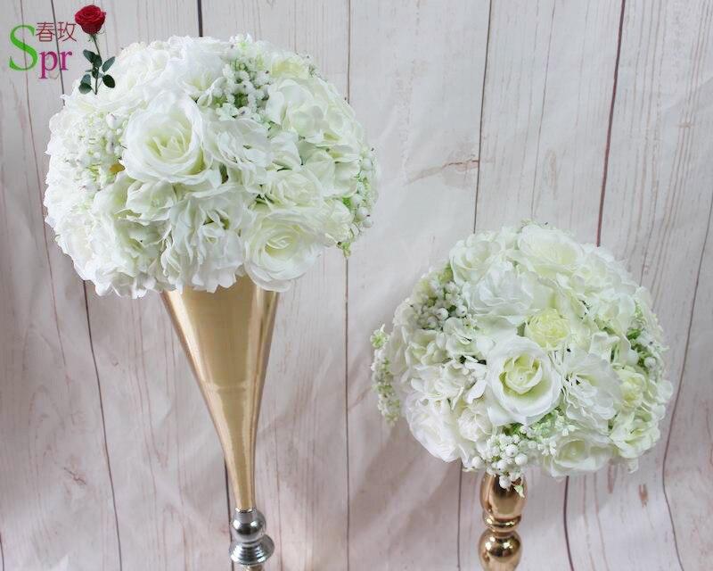 SPR hoge kwaliteit 10 stks/partij kunstmatige bloem bruiloft decoratie middelpunt achtergrond bruiloft tafel middelpunt bloem bal-in Kunstmatige & Gedroogde Bloemen van Huis & Tuin op  Groep 1