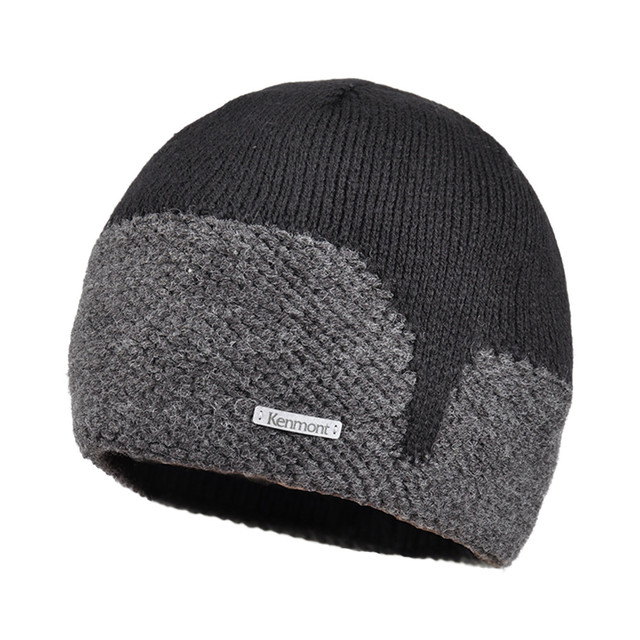 New Kenmont Autumn Winter Wool Blended Knitted Beanie Hat for Men Outdoor Ski Chic Cap for Christmas Holiday Gifts 1751