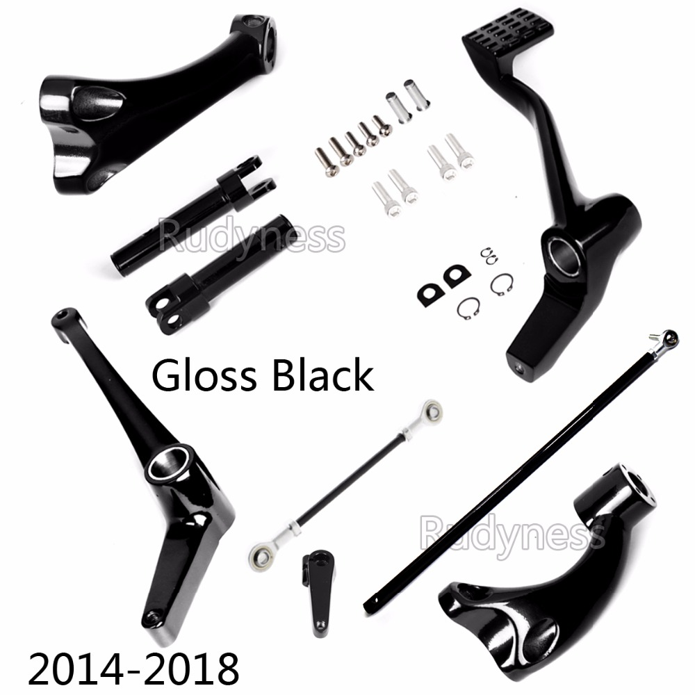 Gloss Black Forward Controls Linkages For Harley 2014 2015 2016 2017 Sportster XL 883 1200