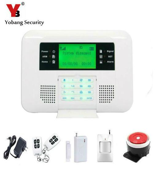 Yobang Security GSM/PSTN Alarm 433 MHZ Wireless Home Security Door Window Sensor Detector Telephone Line PSTN Alarm System w2 color display app control door window pstn telephone line wifi gsm alarm system for home security burglar pir curtain sensor
