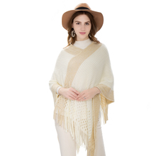 Women Scarf Brand Luxury Warm Soft Cashmere Poncho Fashion Hollow Tassel Shawls Capes Winter Ladies Cotton Pashmina Clothing
