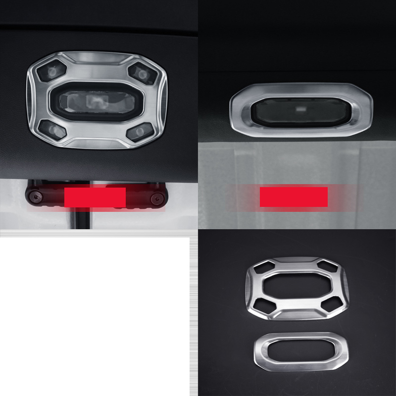 lsrtw2017 titanium black stainless steel car reading light trims decoration for jeep wrangler 2018 2019 in Interior Mouldings from Automobiles Motorcycles