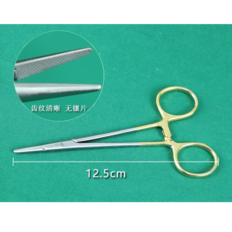 Double Eyelids Embedding Surgical Tools Gold Handle Needle Holder Needle Clamp Cosmetic Shaping Ophthalmic Instruments
