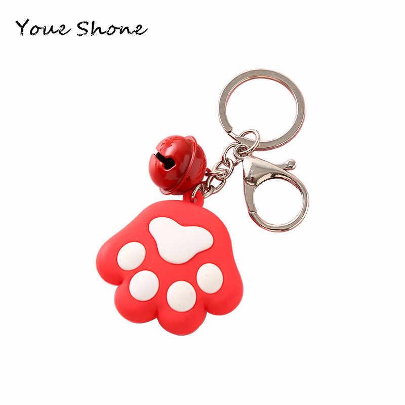 แมวน่ารัก paw พวงกุญแจการ์ตูนนุ่มพลาสติก key chain แหวน Lady กระเป๋าเป้สะพายหลังแขวนเครื่องประดับเครื่องประดับโลหะ holde