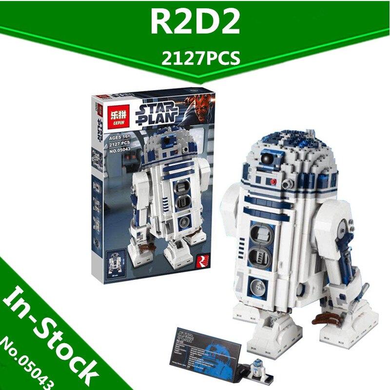 Lepin 05043 2127 Unids Genuino Serie Star El R2-D2 Robot Figura de impresión Blo