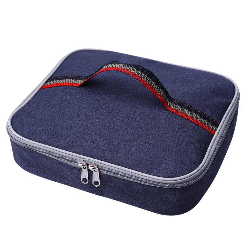 3.7L rectangular cooler bag small portable lunch picnic box thermal ice  pack food fresh keep 09da0e8d5b38