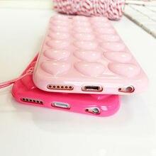 3D Bubble Heart Silicon iPhone Case