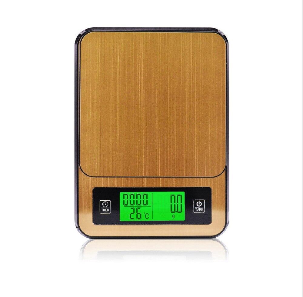2 кг/0,1 г профессии дома Кофе цифровые весы с таймером электронные ювелирные весы Кухня Еда весах