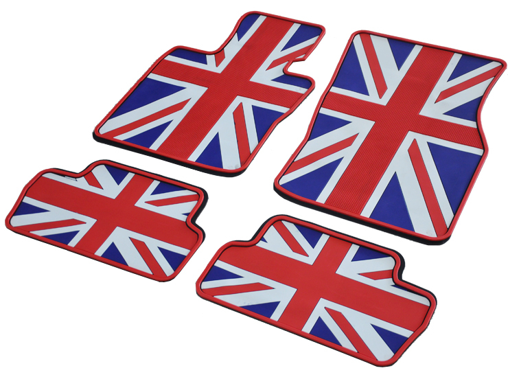special rubber car floor mats+ trunk mats for mini F56 mini one cooper coopers senior environmental latex British flag warehouse special rubber latex green car trunk mats case for benz smart desinged for original car model