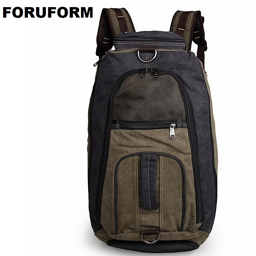 цена 2018 Vintage Men Canvas Backpack Fashion School Satchel Bags Casual Travel Rucksack Shoulder Bags Bolsas Mochila LI-1626