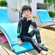 New 2019 Girls/Boys Beach uv protection swim shirts kids protection full body swimwear children long sleeve swimsuit unisex