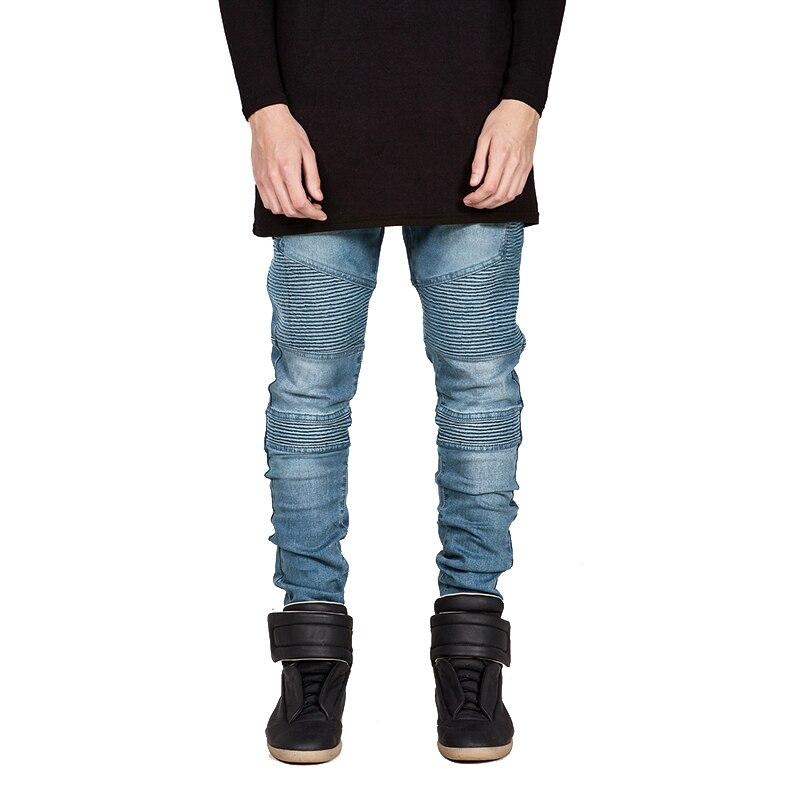 WENYUJH Streetwear Men Ripped Biker Jeans Homme 2019 New Mens Fashion Motorcycle Slim Fit Moto Denim Pants Joggers Skinny Pants