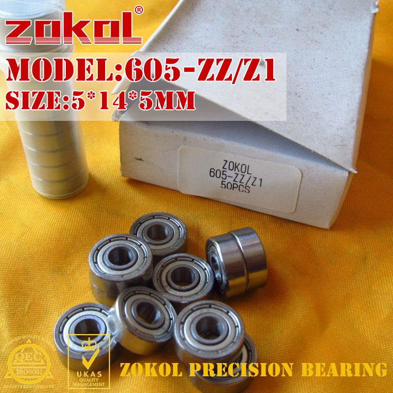 ZOKOL 605-ZZ Z1 bearing 605 ZZ/Z1 Miniature 605ZZ Z1 Deep Groove ball bearing 5*14*5mm zokol 6205zz z1 bearing 6205 zz z1 80205 z1 6205z z1 deep groove ball bearing 25 52 15mm