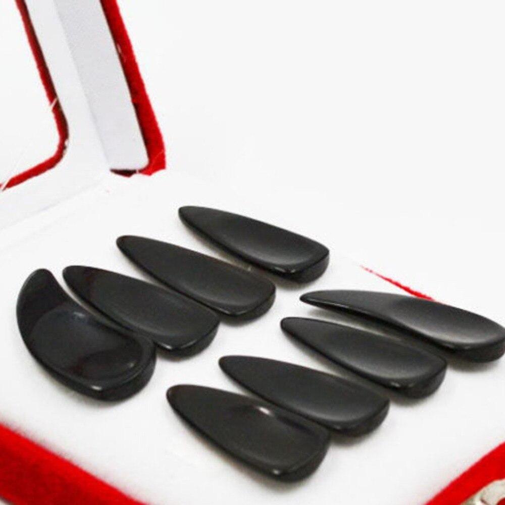 טהור טבעי שחור שור הורן גבוהה-כיתה נייל נוסף עבה חריץ נייל ציתר למתחילים עיסוק אצבע מרים ציתר אבזרים