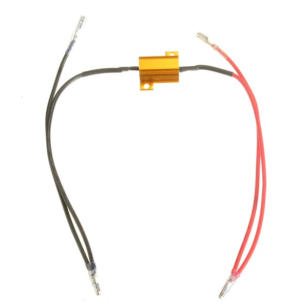 8.2 Ohm 2x 12V 25w Motorcycle LED Indicator Light Lamp Bulbs Load Resistor Flasher Relay 42cm Durable Easy to install