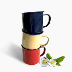 RUIDA estampado revestimiento esmalte taza Simple nostálgico creativo Vintage amante esmalte bebedería café tazas de té taza XO00ZB