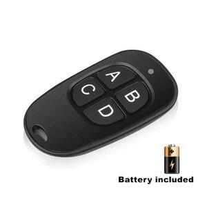 Image 1 - 433 МГц универсальный беспроводной пульт дистанционного управления клон 4 клавиши копия клонирование двери гаража электрический контроль Лер Дубликатор ключ автомобиля