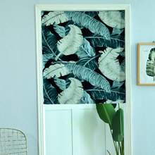 Hot ins 1*0.8cm Curtain Roman Blinds Printed Leaf Patten High Quality Roman Shades Custom Made Curtains