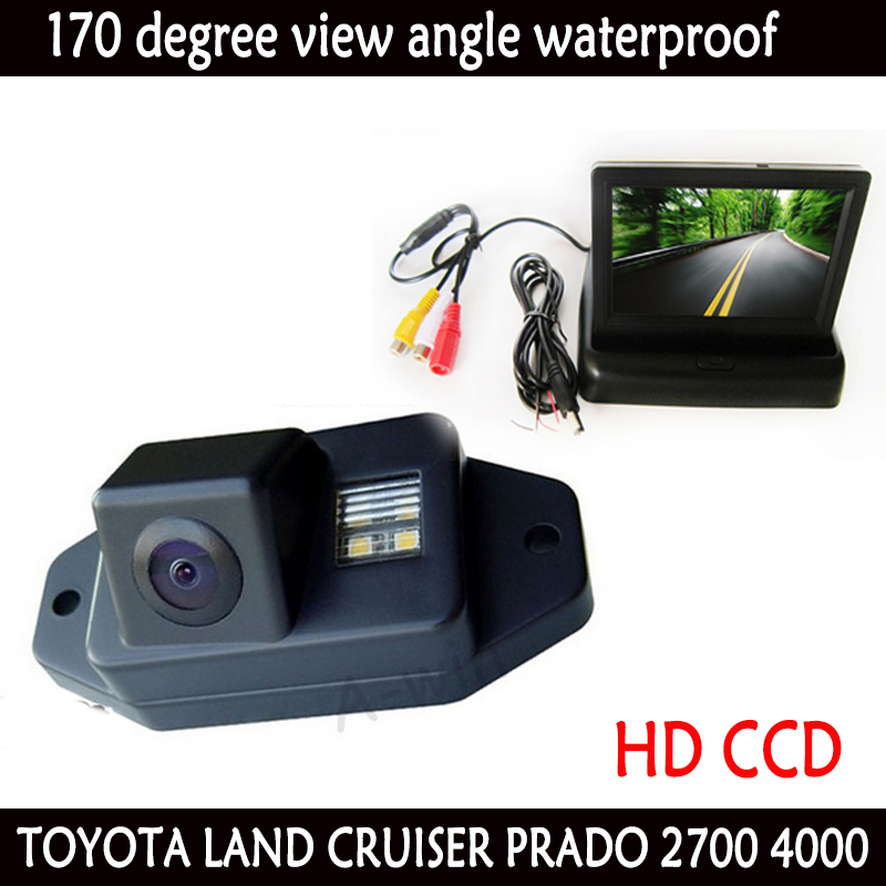 CCD car rear view parking camera backup reverse camera with car monitor mirror for TFT LCD