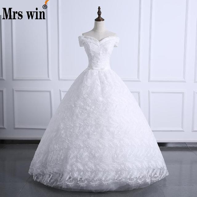 Free Shipping Sweetheart Wedding Dresses Boat Neck Lace Feather Off ...