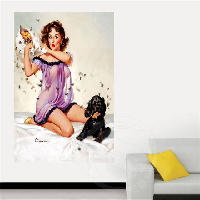 Online Shop Classic Fashion Custom Pin Up Girl Canvas Fabric Cloth ...