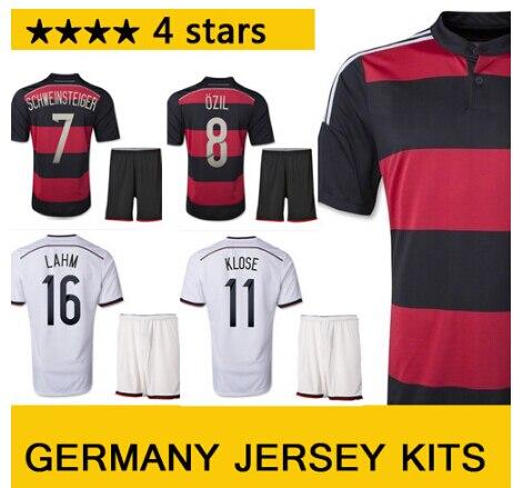 Nuevos hombres de moda 4 estrellas de fútbol de alemania Home Jersey ...