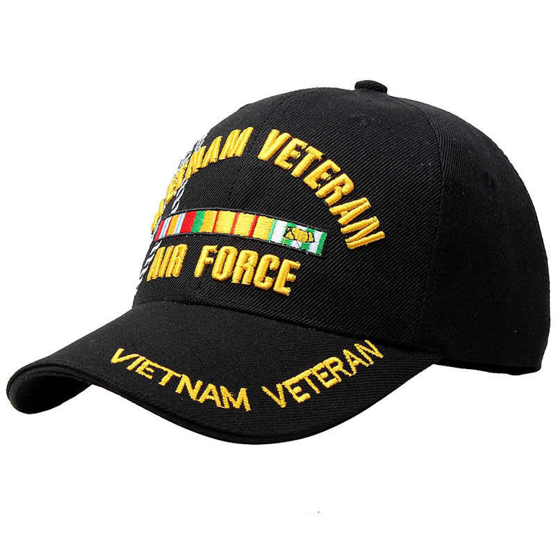 0004762fe85d1 New Letter Embroidery Tactical Baseball Cap Men Women Navy Vietnam War  Veteran Cap Cotton Bone Snapback